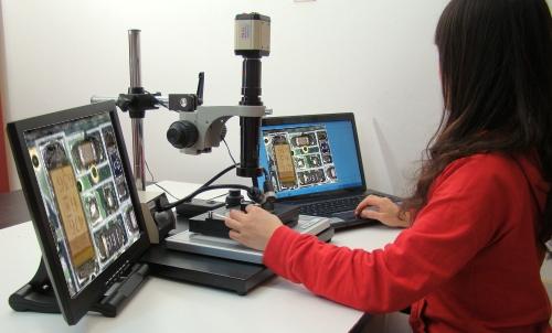 Digitalmikroskop mikroskop mit monitor videomikroskop