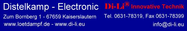 Distelkamp-Electronic Lötstationen Mikroskope Digitalmikroskope Lötdampfabsorber Schadstoffabsorber, Schrauber, Lötbäder-Logo